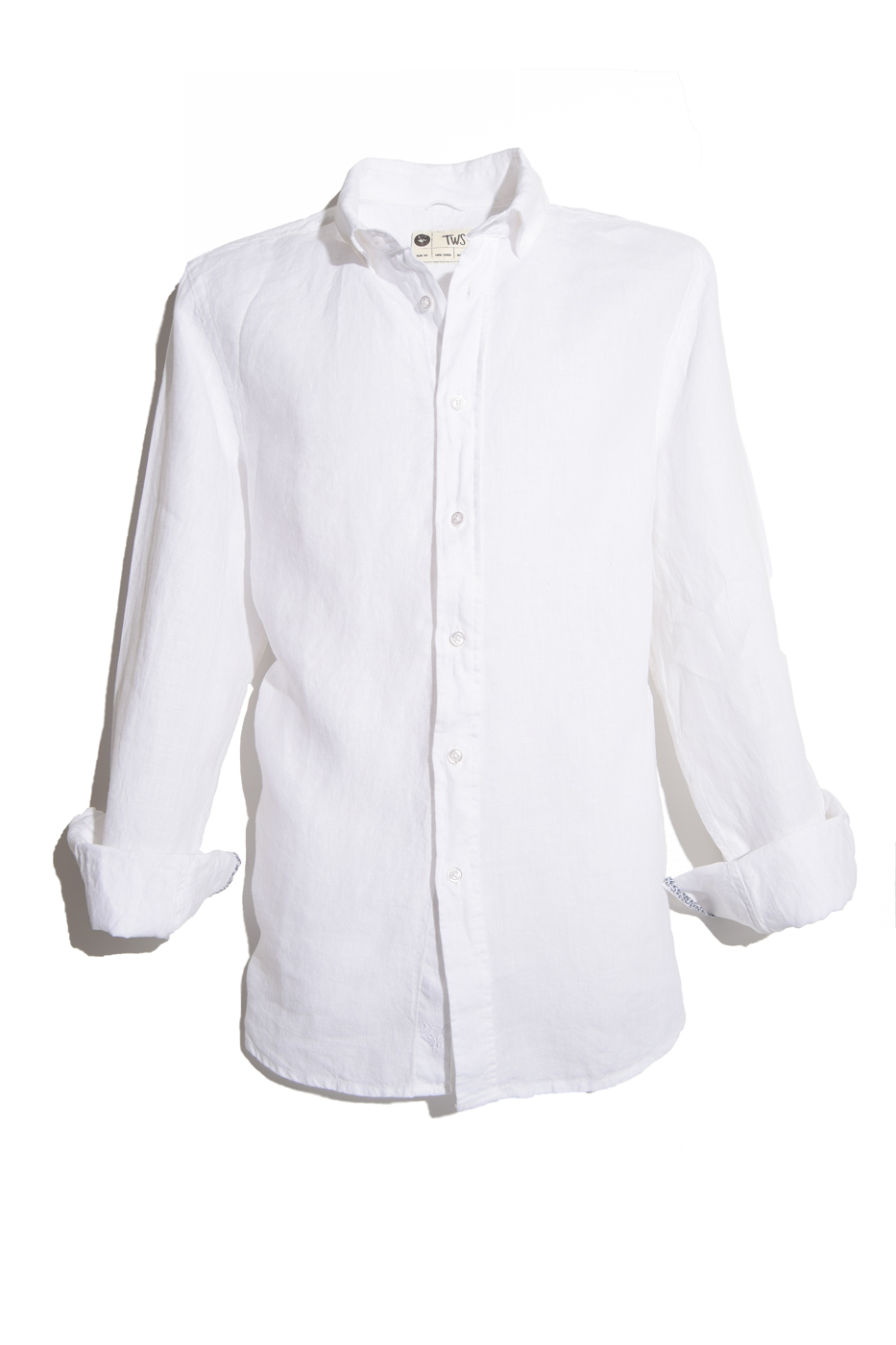 Camisa de lino color blanco